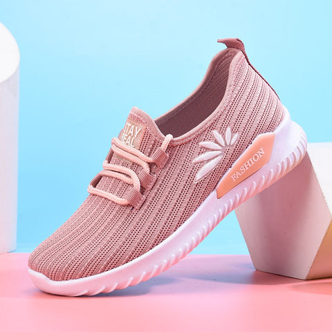 Woman Sneakers Outdoor Lace Up Casual Shoes Mesh Breathable Sports Run Shoes