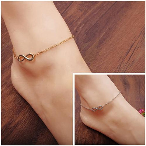 Woman Accessories Adjustable 8-Shape Decor Bracelet Barefoot Anklet Chain Foot Jewelry