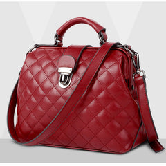 Women HandBags Genuine Leather Messenger Bags Luxury Lattice Classical Shoulder Bags