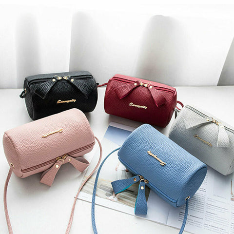 Women PU Leather Mini Handbag Cute Small Shoulder Bag Messenger Satchel CrossBody Purses