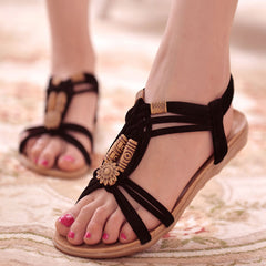 Women Sandals Gladiator Summer Shoes Flip Flops Plus Size Beach Ladies Shoes