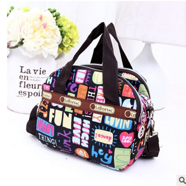 Women Shoulder Bag Tote Messenger Cross Body Waterproof Nylon Handbag Travel Weekend Luggage Bag