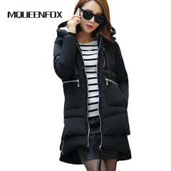 Women's Winter Cotton Parkas Jacket Fashion Female Ladies Coat