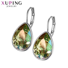 Thanksgiving Day Christmas Gifts Crystals Swarovski Colorful Earrings Charm Women Gifts