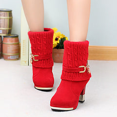 thick with women's boots frosted wool shoes