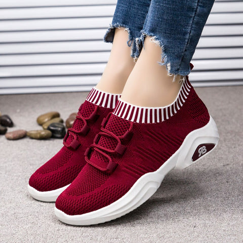 Breathable Shoes Jogging Walking  Women Sneakers Casual Shoes Autumn Spring Flats
