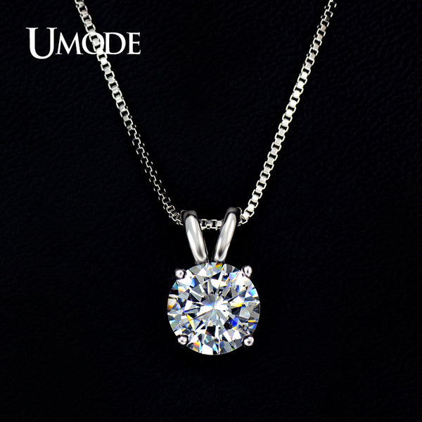 UMODE Necklaces & Pendants Hearts & Arrows CZ Pendant Necklace For Women Wedding/Party Jewelry