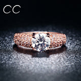 Gold Plated Rings Trendy Vintage Engagement Rings Fine Jewelry