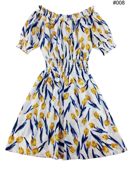 Cotton Summer Autumn Women Dress Ukraine Casual Sexy Wide Boat Neck Beach Dresses