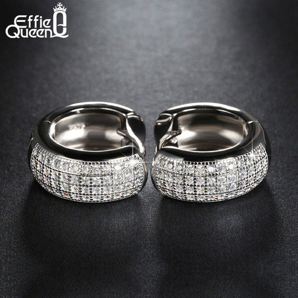 Effie Queen Style Micro Paved AAA Zircon Earrings Women's Birthday Gift Luxury Woman Earrings