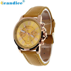 Analog Quartz Faux Leather Beautiful Roman Numeral Watch Women Relogio Wrist Watches