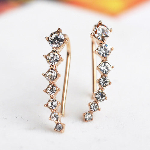 Dipper Zircon Crystals Stud Earrings Jewelry Earrings Brincos Silver Plated Ear