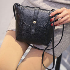 Women Leather Handbags Small Messenger Crossbody Shoulder Mini Clutch Purse Bag Candy Color