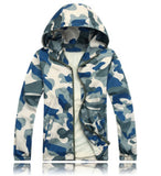 Men Fashion Camouflage Jacket Summer Tide Male Hooded Thin Sunscreen Coat
