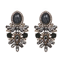 Big Crystal Earring Fashion Stud Earrings for Women