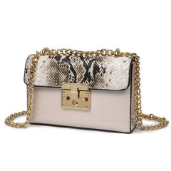 Women Messenger Bag Chain Crossbody Bags Snake Leather Brand Designer Bags