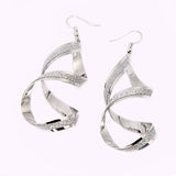 Fully Jewelled Rotating Drop Earrings for Women Gold Silver Plated Love Earrings