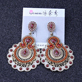 Ethnic Style Bohemia beads drop earrings Vintage simulated pearl ethnic jewelry long earrings