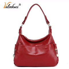 Valenkuci Women Handbag Genuine Leather Messenger Bags Designer Crossbody Tote Shoulder Bag