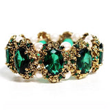Gold color crystal stone rhinestones Bracelet  Bangle jewelry wedding fashion