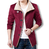 Men Long Wool Coat Winter Men Jackets And Coats Slim Fit Men Windbreaker High Quality Trench Coat