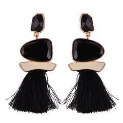 New Fringed Statement Earrings Wedding Tassel Multicolored Drop Dangle Earrings Jewelry