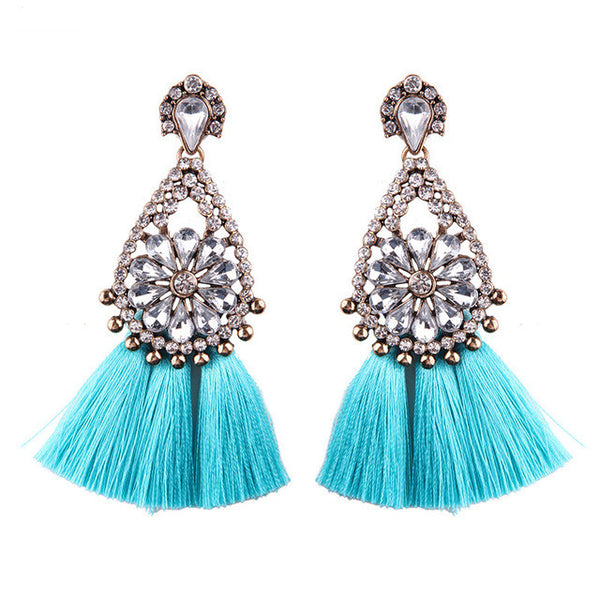 Best Jewelry Tassel Dangle Cheap Wedding Bohemian Drop Statement Flowers Charm Earrings