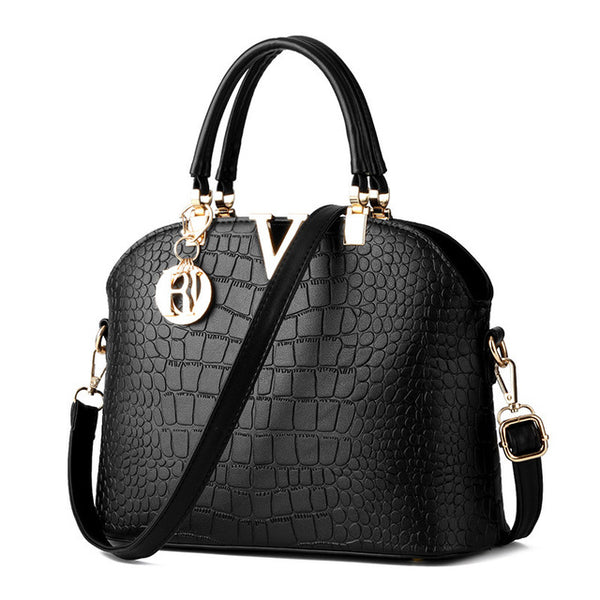 ACELURE Women Famous Luxury Leather Messenger Bag Crocodile Pattern Shoulder Crossbody Bag