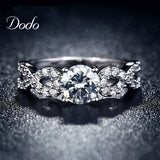 Wedding Rings White Gold Plated CZ Diamond Jewelry Ring Vintage Female Infinity