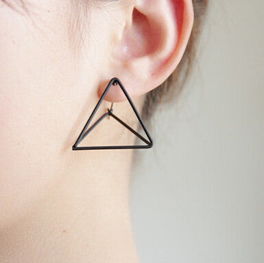 Punk Style Triangle Studs Earrings
