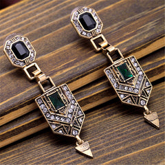 Vintage Elegant Luxury Beautiful Earrings Fashion Geometric Earrings Women Charm Jewelry