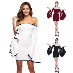 Women Evening Sexy Party Elegant Butterfly Sleeves Lady Style Party Dresses