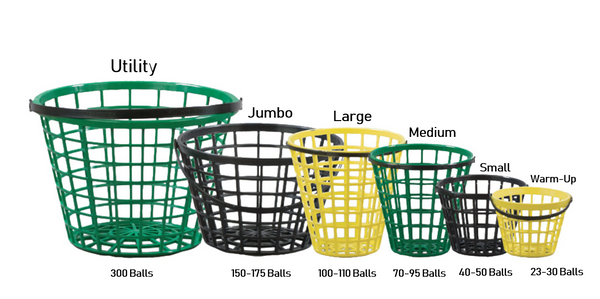Golf Ball Range Pails & Baskets