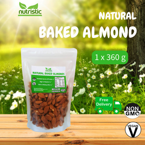 ☆ Value Pack ☆ Natural Baked Almond Nuts [360g]