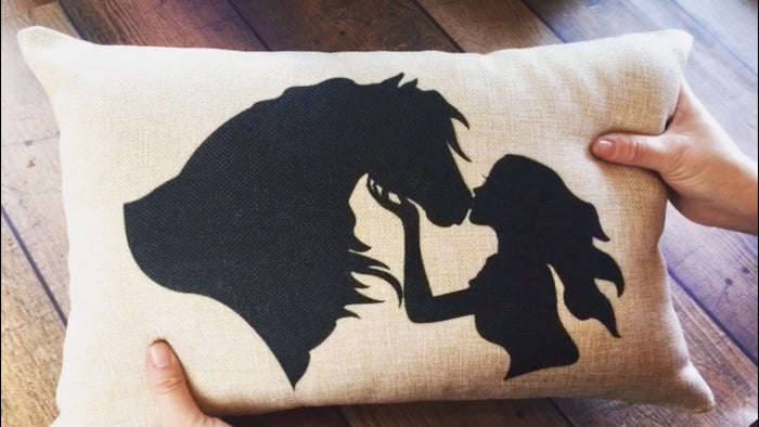 Horse Kisses Travel Pillow Cover