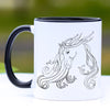 Grace - Arabian Horse Coffee Mug - 11 oz