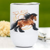 Bay Gypsy Horse Wine Tumbler
