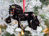 Black Gypsy Horse Christmas Ornament - Eclipse