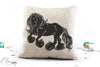 Gypsy Cob Horse Pillow Cover - Happy Gypsy Horse