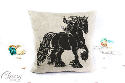 Gypsy Horse Pillow Cover - Grateful Gypsy Horse