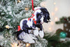 2019 Christmas Ornament - Black and White Tobiano Gypsy Cob Horse I
