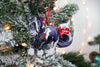 2019 Christmas Ornament - Black and White Tobiano Gypsy Cob Horse II