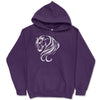 Breathless Arabian Horse Purple Hooded Sweatshirt