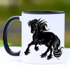 Cantering Friesian Horse Coffee Mug - 11 oz