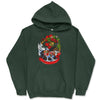 Bay Christmas Gypsy Horse Wreath Hooded Sweatshirt