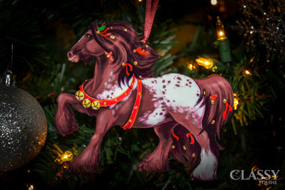 Gypsy Vanner Horse Christmas Ornaments - Gypsy Horse Set