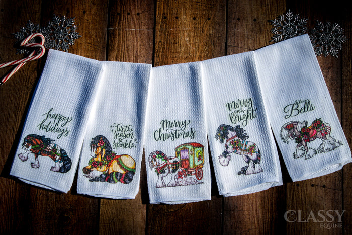 Christmas Gypsy Set of 5 Hand Towels