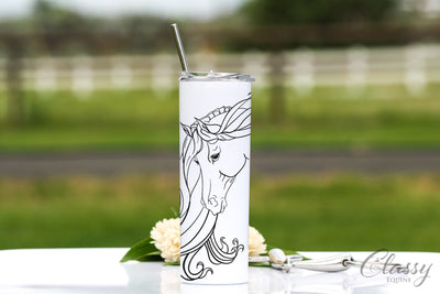 Grace - Arabian Horse, 20 oz Skinny Tumbler with Straw