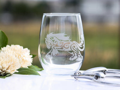 Gypsy Horse Romp Stemless Wine Glass Set