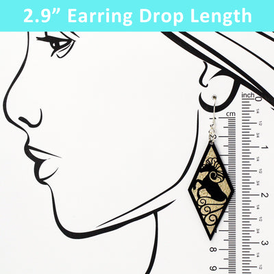 Diamond Rearing Horse Dangle Earrings - Multiple Color Options